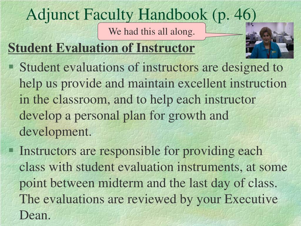 Adjunct Faculty Handbook (p. 46)