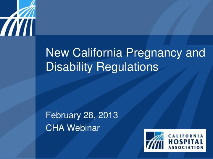 new california pregnancy and disability regulations n.