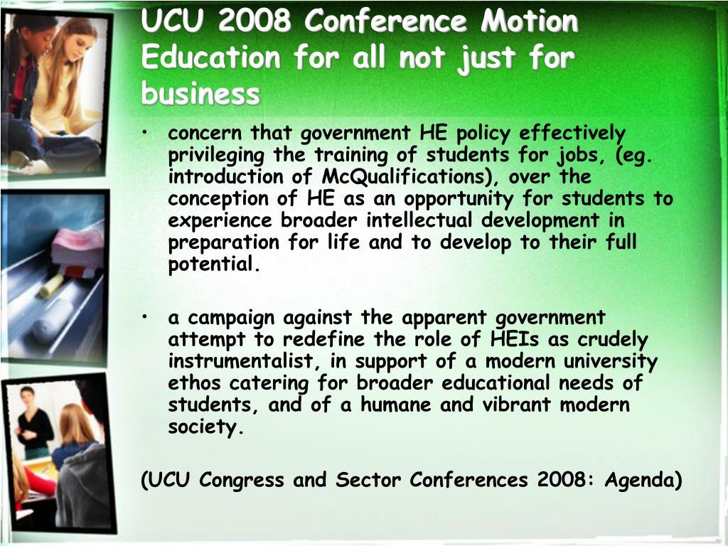 UCU 2008 Conference Motion