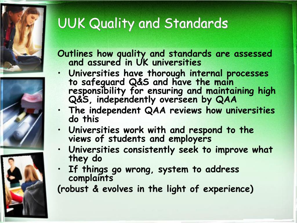 UUK Quality and Standards
