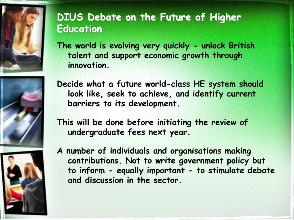 DIUS Debate on the Future of Higher Education