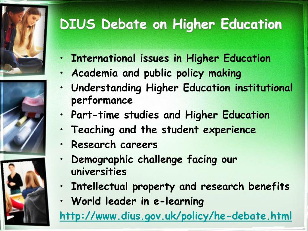 DIUS Debate on Higher Education