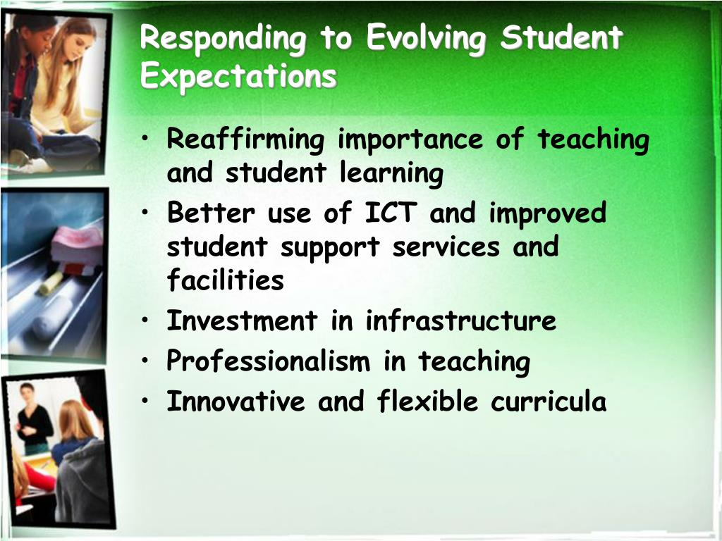Responding to Evolving Student Expectations