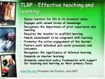 tlrp effective teaching and learning