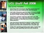 ucu staff poll 2008