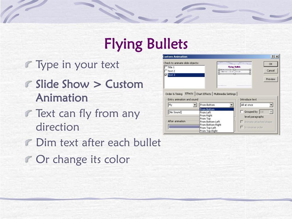 Flying Bullets