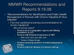 mmwr recommendations and reports 9 19 08