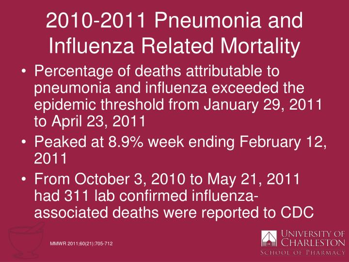 2010-2011 Pneumonia and Influenza Related Mortality