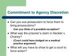 commitment to agency discretion