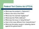 federal tort claims act ftca
