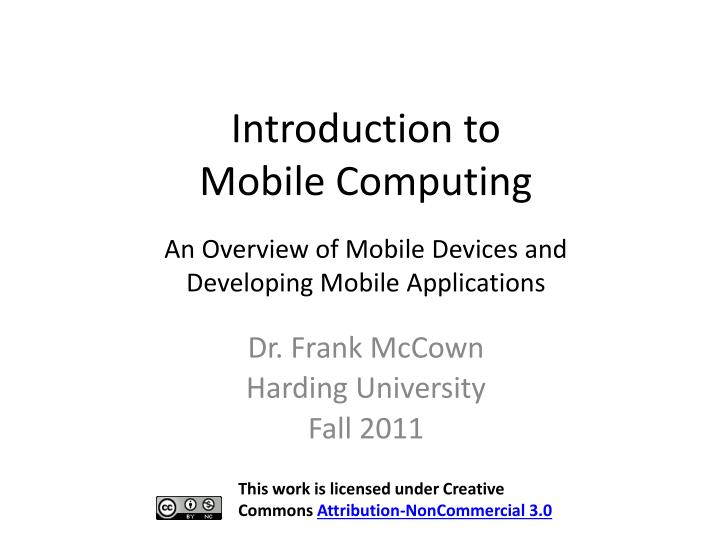 introduction to mobile computing n.