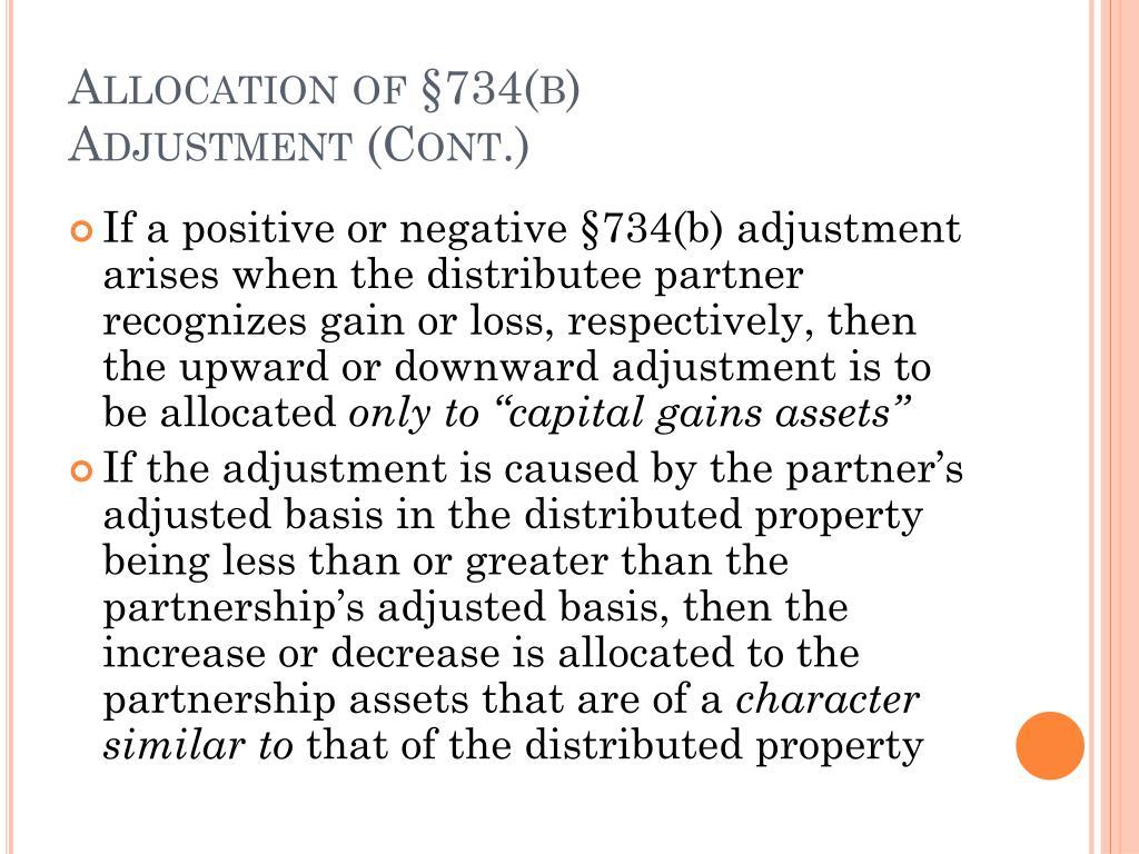 Allocation of §734(b)