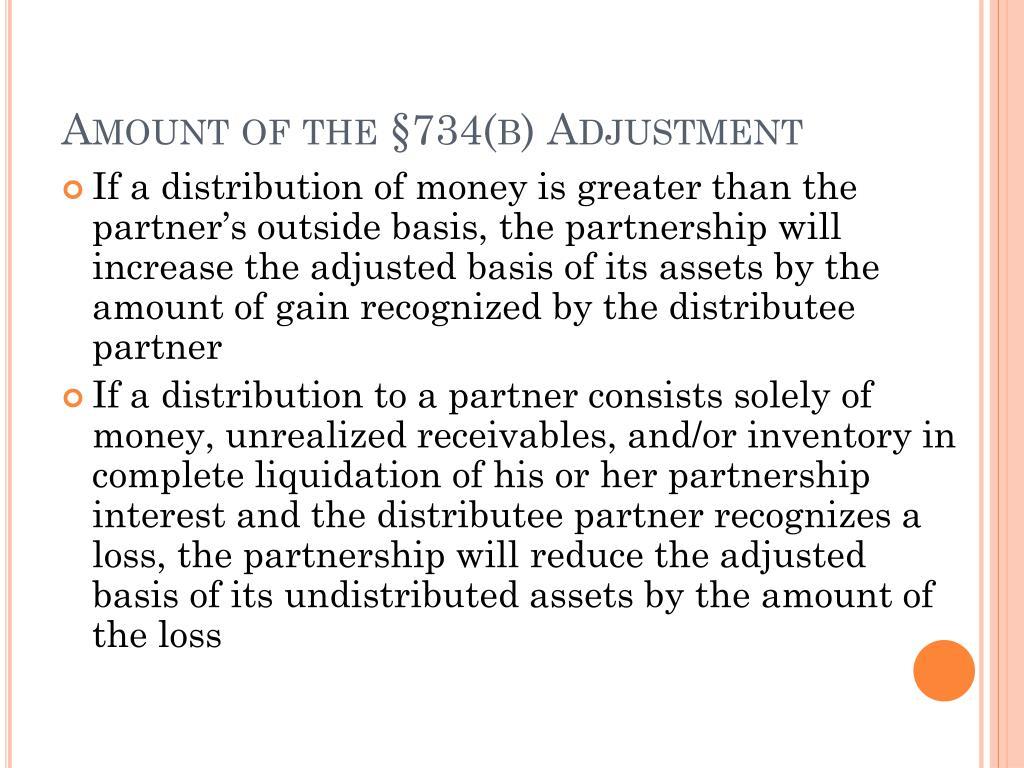 Amount of the §734(b) Adjustment