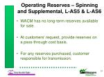 operating reserves spinning and supplemental l as5 l as6