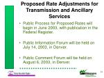 proposed rate adjustments for transmission and ancillary services24