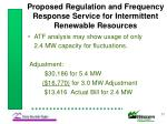 proposed regulation and frequency response service for intermittent renewable resources17