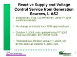 reactive supply and voltage control service from generation sources l as2