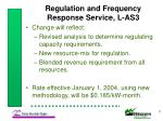 regulation and frequency response service l as38