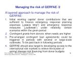 managing the risk of gerfae 2
