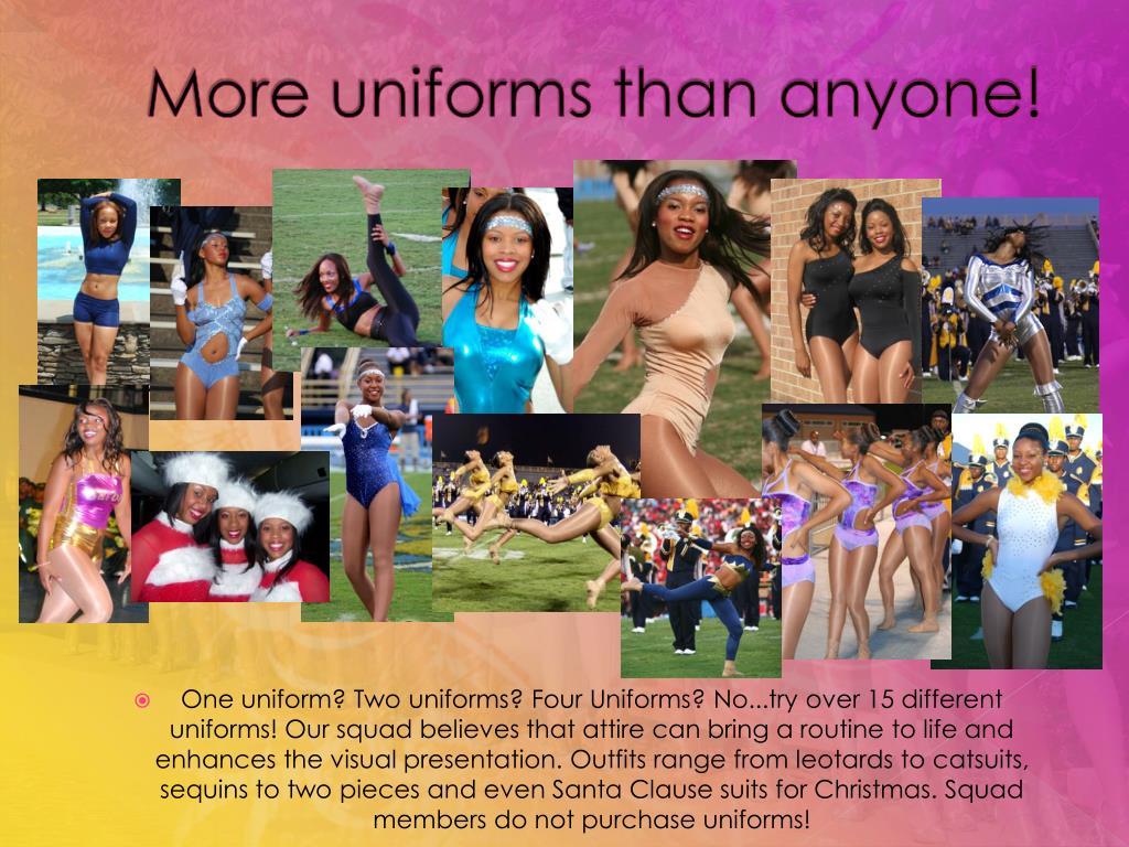 More uniforms than anyone!