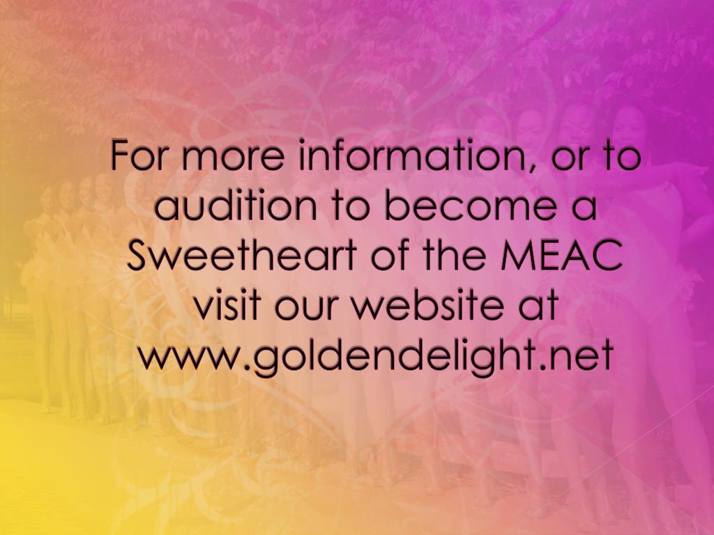 For more information, or to audition to become a Sweetheart of the MEAC