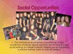 social opportunities