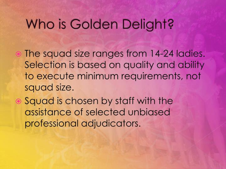 Who is golden delight3