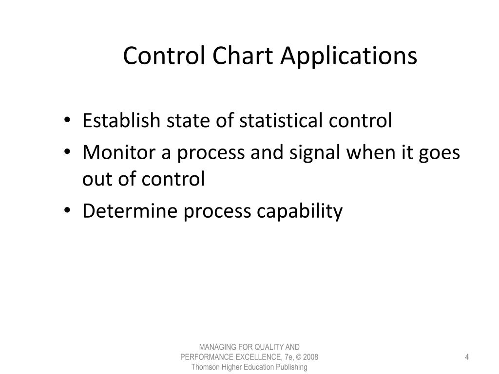 Control Chart Applications