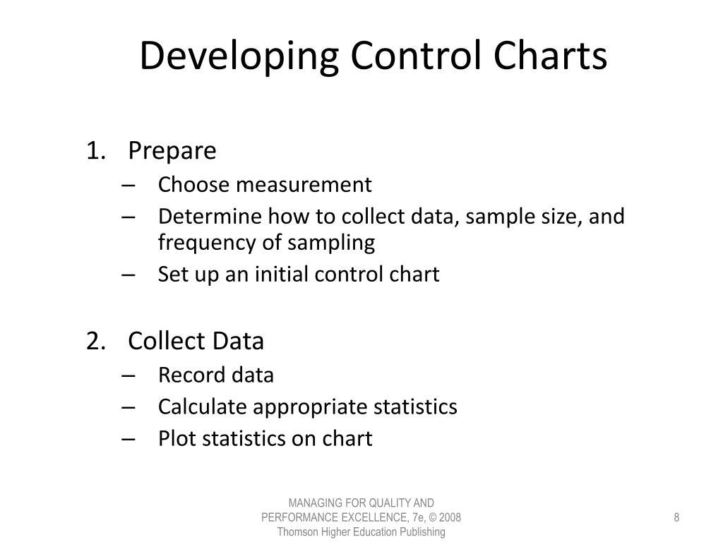 Developing Control Charts