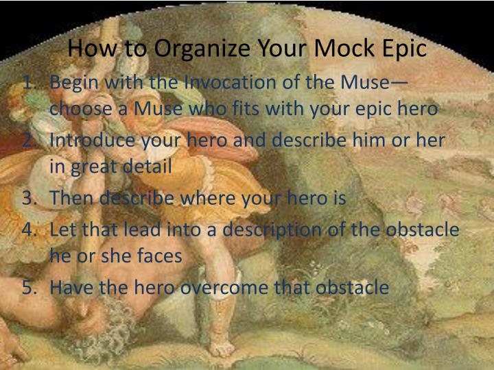 how to organize your mock epic n.