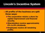 lincoln s incentive system24