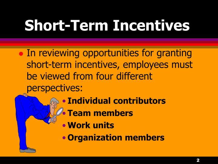 Short term incentives2