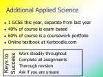 additional applied science