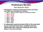 preliminary results past relevant work12
