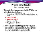 preliminary results past relevant work13
