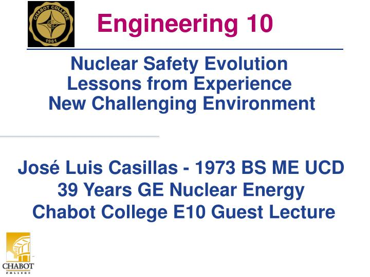 nuclear safety evolution lessons from experience new challenging environment n.