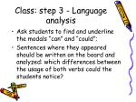 class step 3 language analysis1