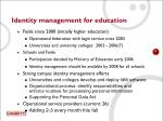 identity management for education