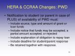 hera ccraa changes pwd15