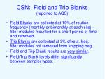 csn field and trip blanks reported to aqs