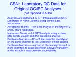 csn laboratory qc data for original oc ec analyses not reported to aqs