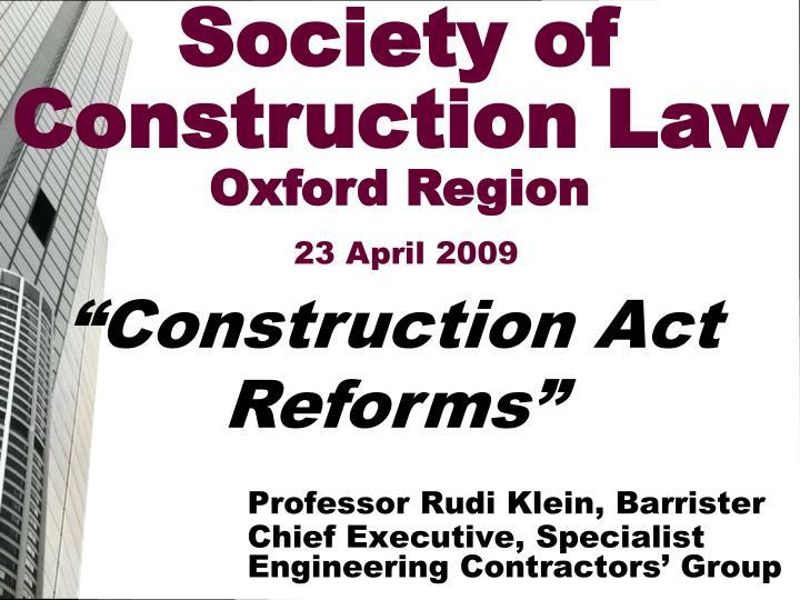professor rudi klein barrister chief executive specialist engineering contractors group n.