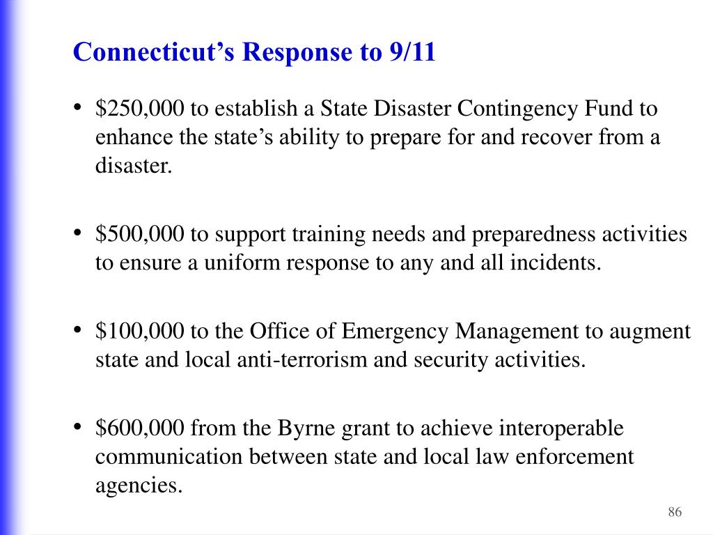 Connecticut's Response to 9/11