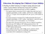 education developing our children s great abilities