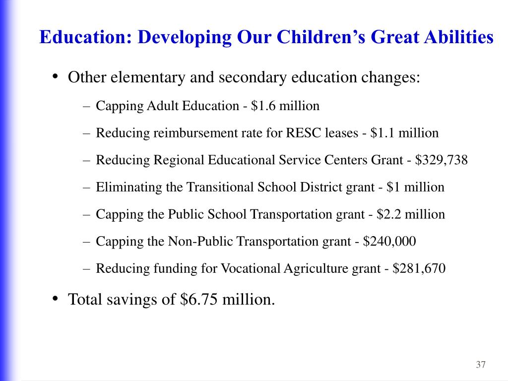 Education: Developing Our Children's Great Abilities