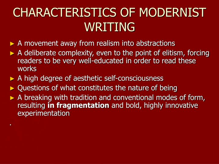 MODERNISM: American Literature 1914-1945 PowerPoint