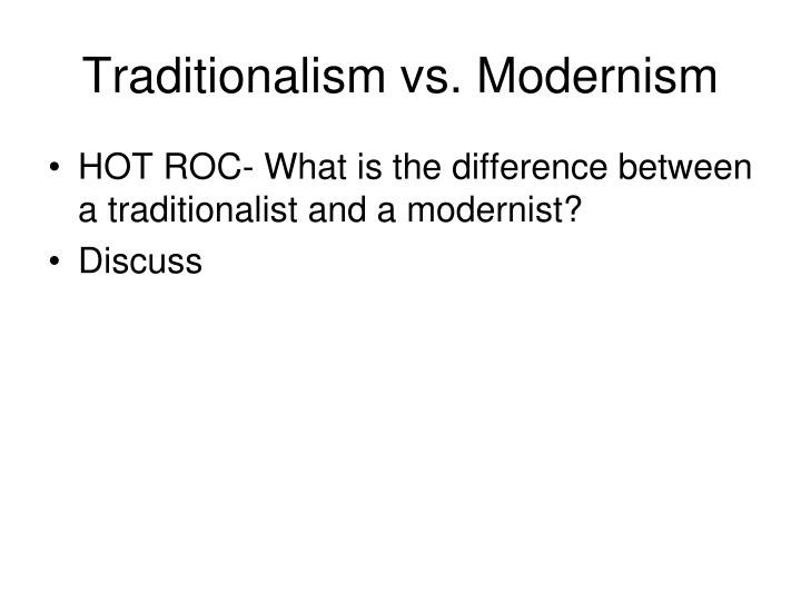 traditional versus modern ideologies in r k The benefits of modern advertising vs traditional advertising modern advertising modern advertising is a digital way of advertising, focusing on ads placed online and on social media.