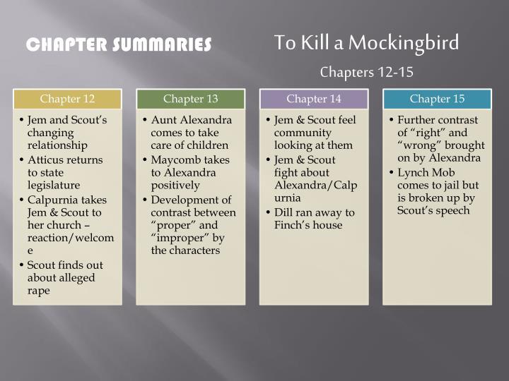 to kill a mockingbird chapters 12 15
