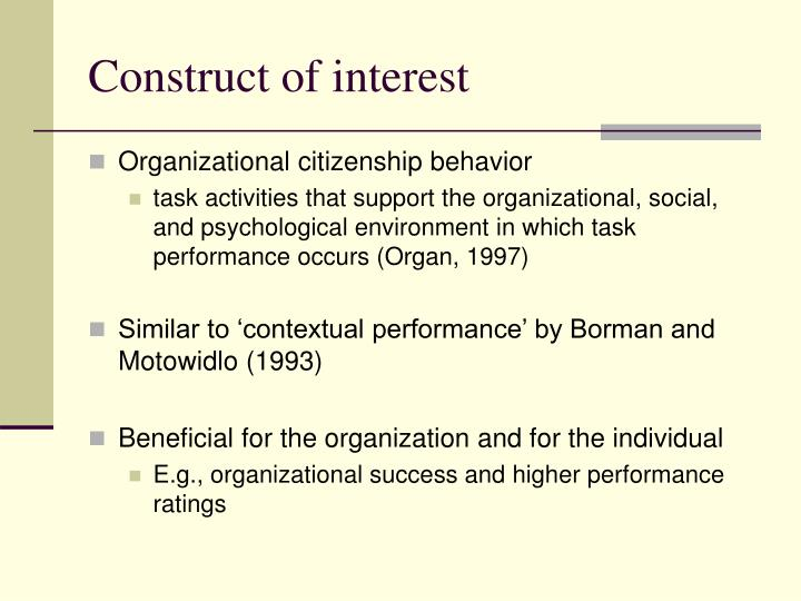 organizational citizenship behavior essay Read this essay on influence of organizational culture on organizational citizenship behavior: a three-sector study come browse our large digital warehouse of free sample essays get the knowledge you need in order to pass your classes and more.