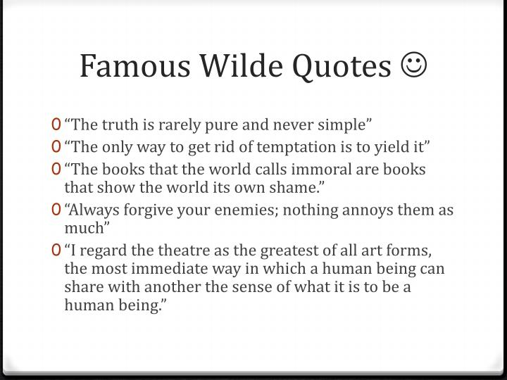 Famous Wilde Quotes